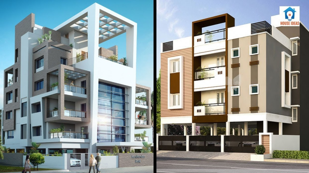 Awesome apartment elevation design ideas  apartment front elevation 11D view - Apartment Design Elevation