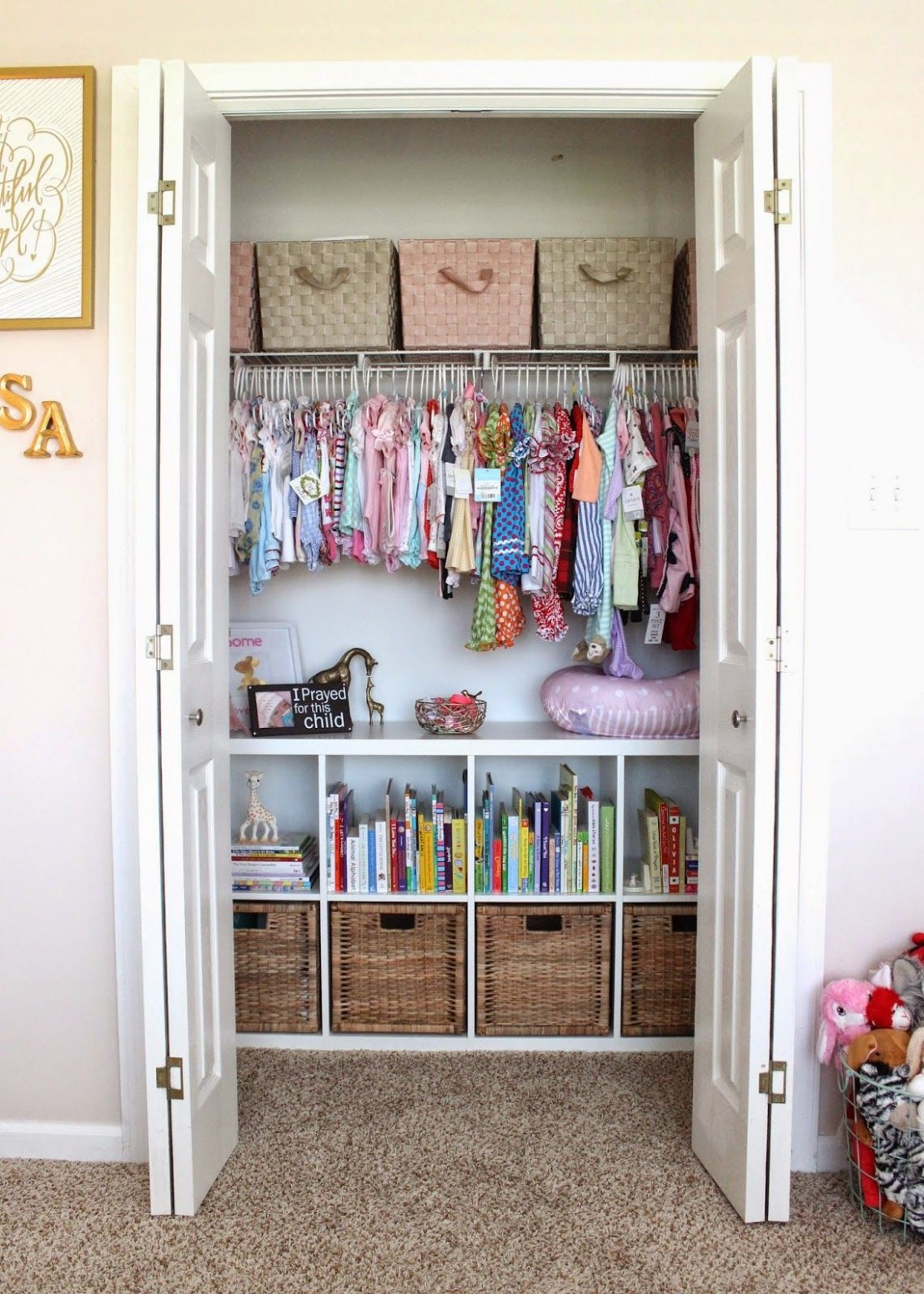 Baby Closet Organization Ideas (12 Must-Try Tips) - Mommyhooding  - Closet Ideas For Baby Nursery