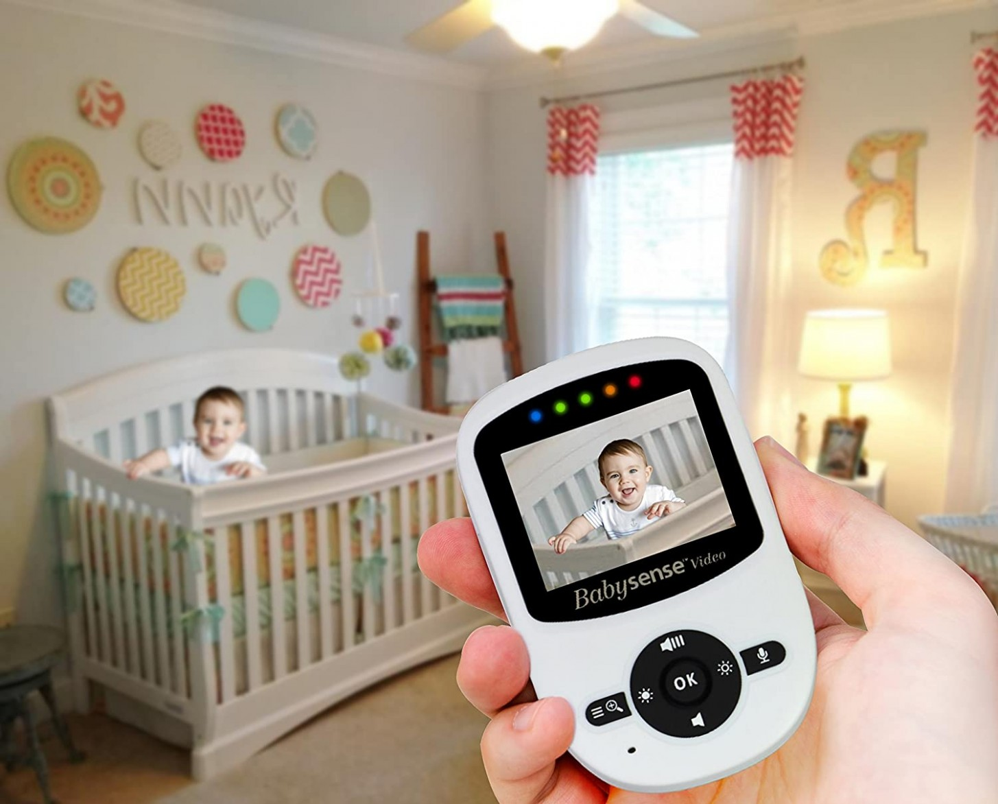 Babysense Video Baby Monitor with LCD Display, Digital Camera, Infrared  Night Vision, Two Way Talk Back, Temperature Monitoring, Lullabies, Long  Range  - Baby Room Video