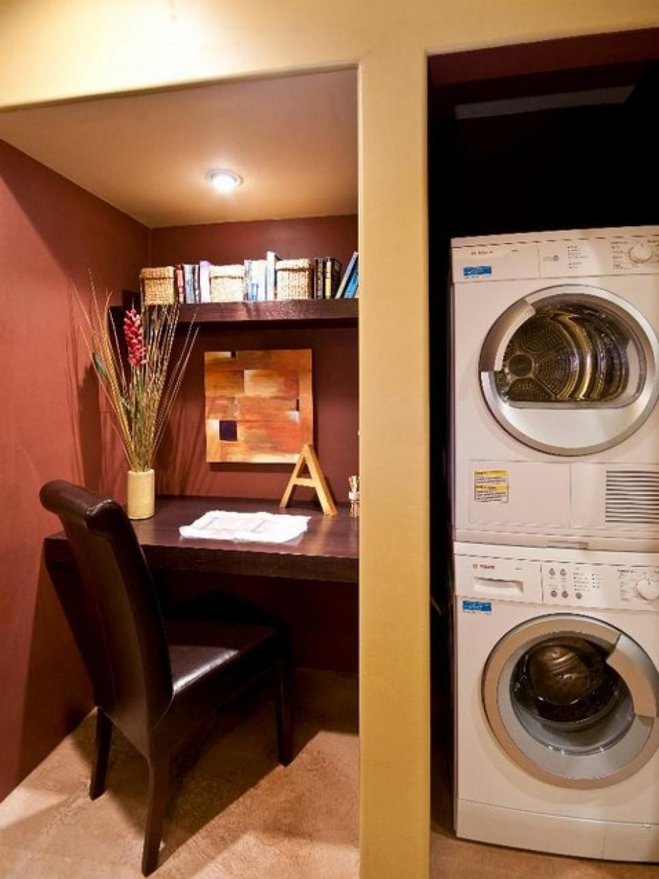 basement laundry room  laundry room floor tile  how to finish a  - Laundry Room Office Ideas