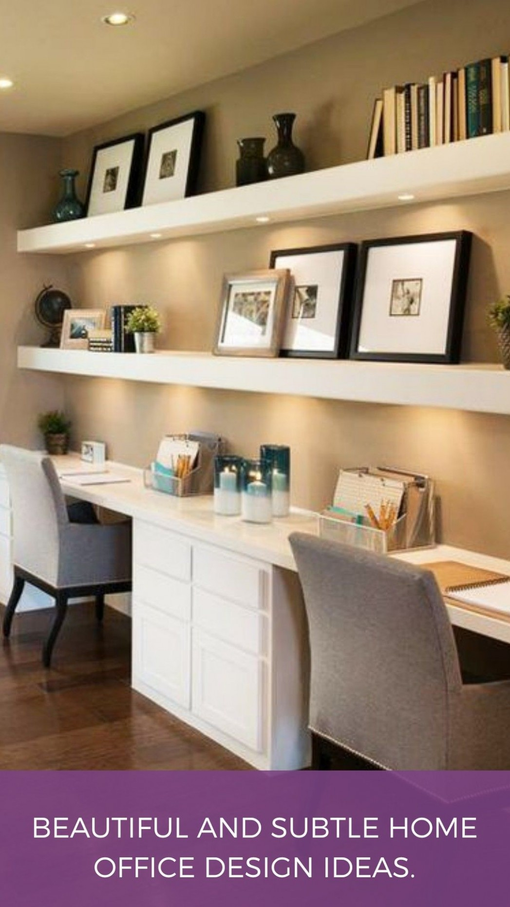 Beautiful and Subtle Home Office Design Ideas  Cheap home office  - Home Office Ideas Cheap