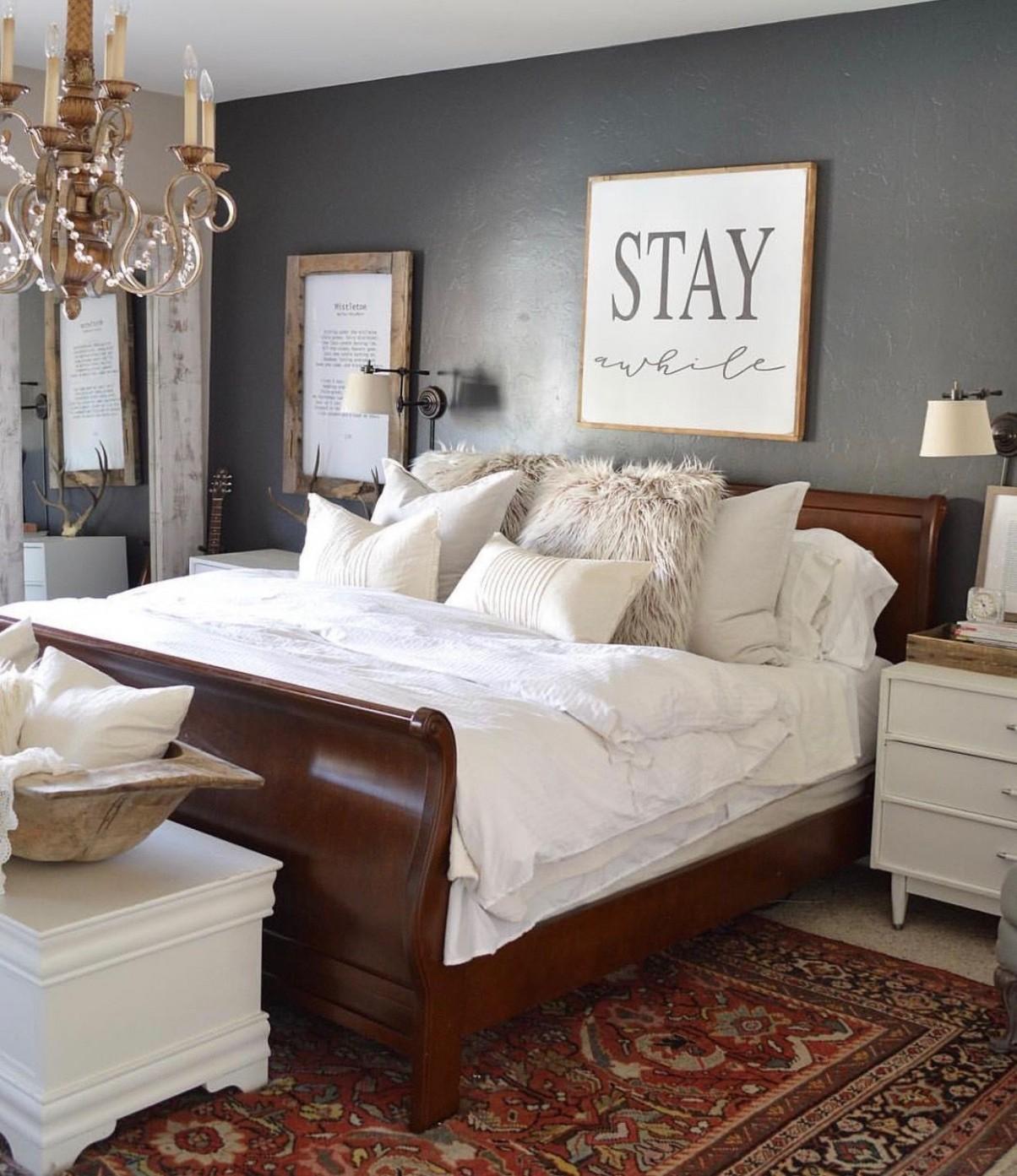 Bedroom Ideas Dark Furniture  Brown furniture bedroom, Master  - Bedroom Ideas With Dark Furniture