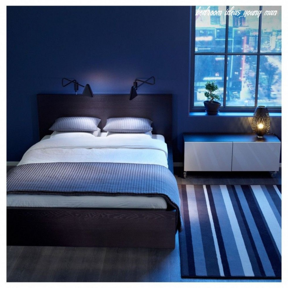 Bedroom Ideas Young Man in 11  Blue bedroom walls, Small room  - Bedroom Ideas Young Man