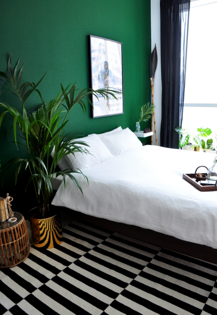 Bedroom Makeover Reveal (Part 10)  Green bedroom design, Apartment  - Bedroom Ideas Dark Green