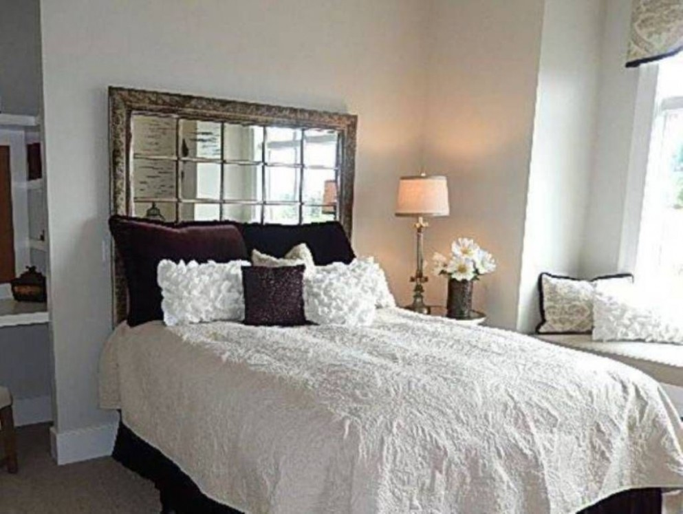 beds without headboards decorating - Google Search  Bed without  - Bedroom Ideas Without Headboard