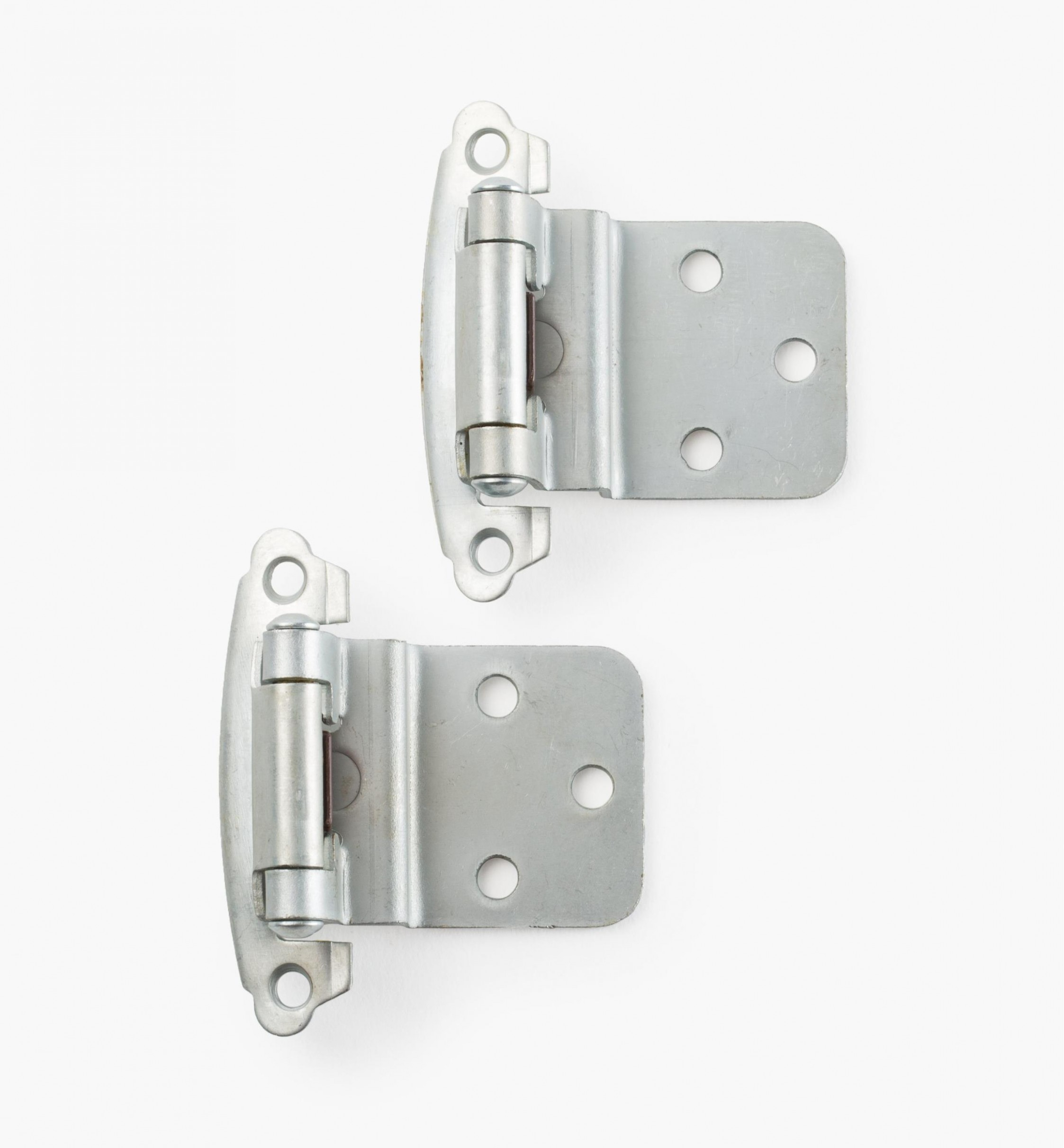 Belwith Surface Self-Closing Offset Hinges - Lee Valley Tools - Chrome Hinges For Kitchen Cabinets