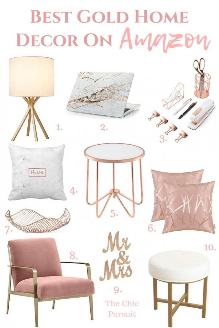 Best Gold Home Decor Finds On Amazon  The Chic Pursuit  Rose  - Bedroom Ideas Rose Gold