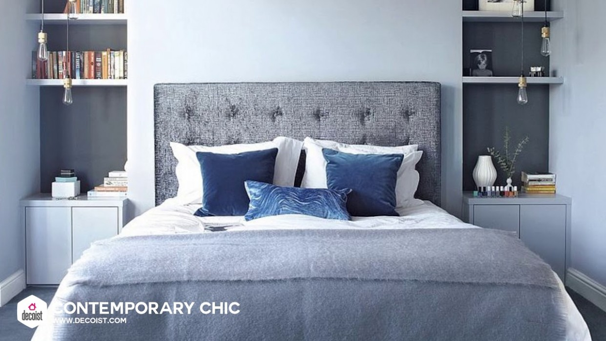 Best Gray and Blue Bedroom Ideas and Photos to Swoon Over - Bedroom Ideas Blue And Grey