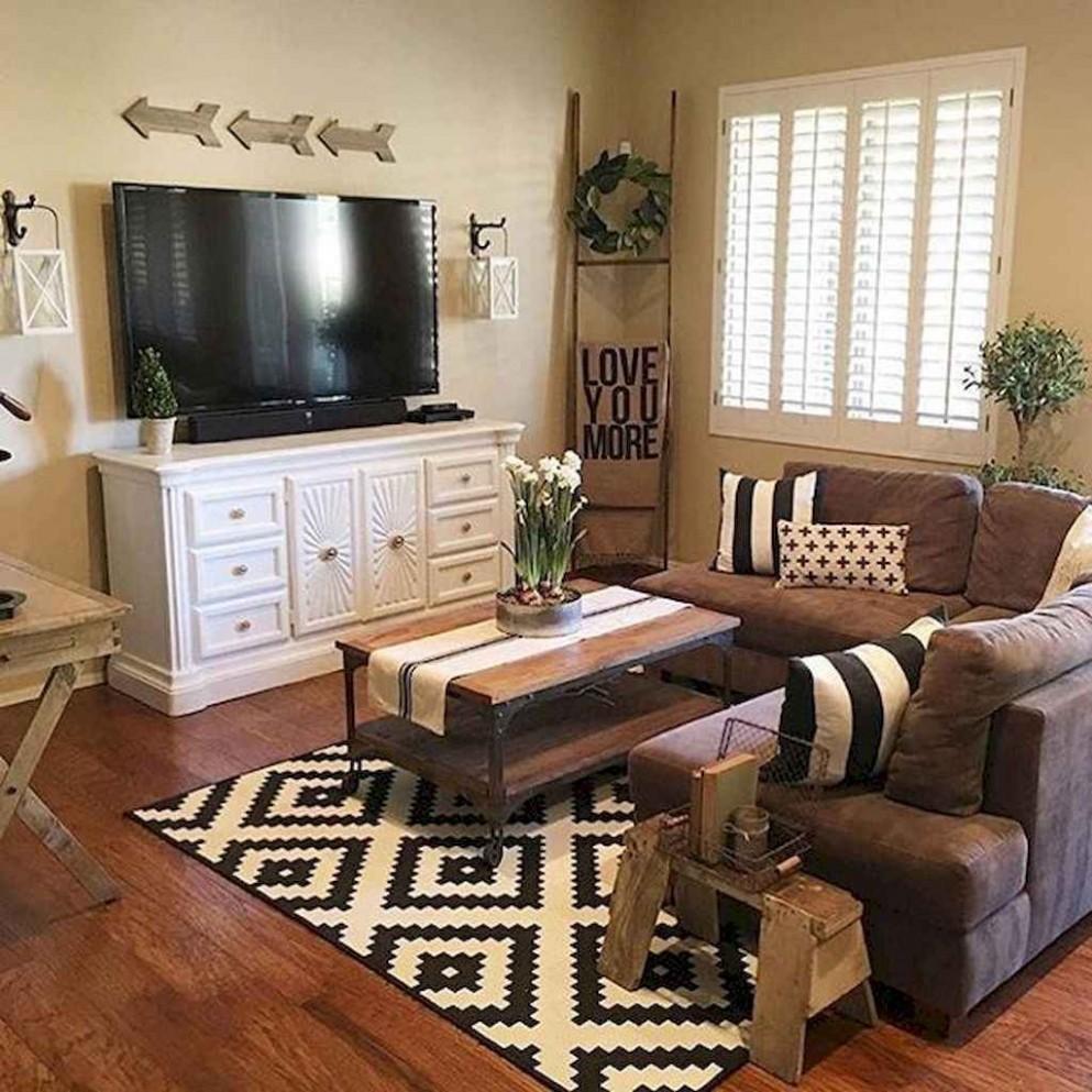 Best Rustic Apartment Living Room Decor Ideas – Saltandblues - Rustic Apartment Decor Ideas