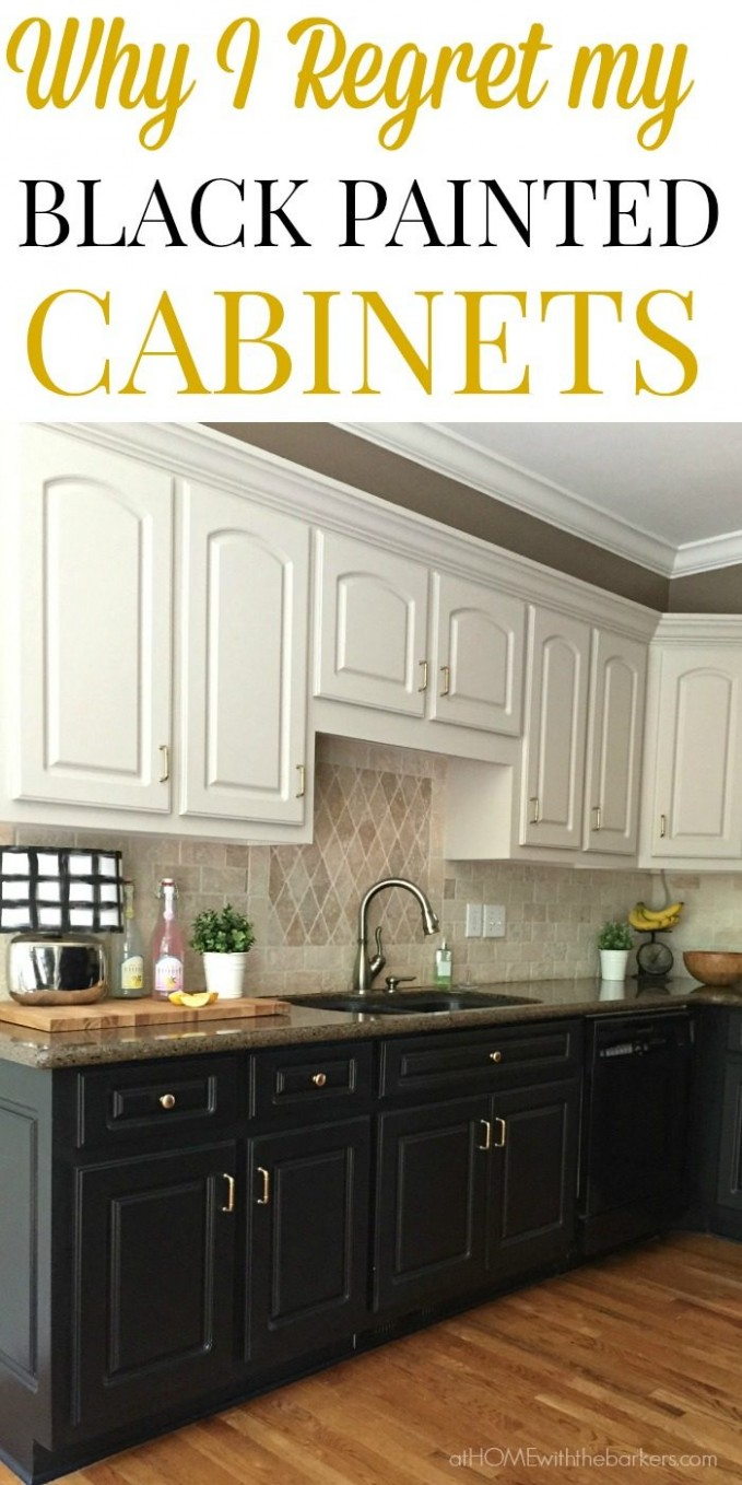Black Kitchen Cabinets The Ugly Truth - At Home With The Barkers - How To Finish The Bottom Of Upper Kitchen Cabinets