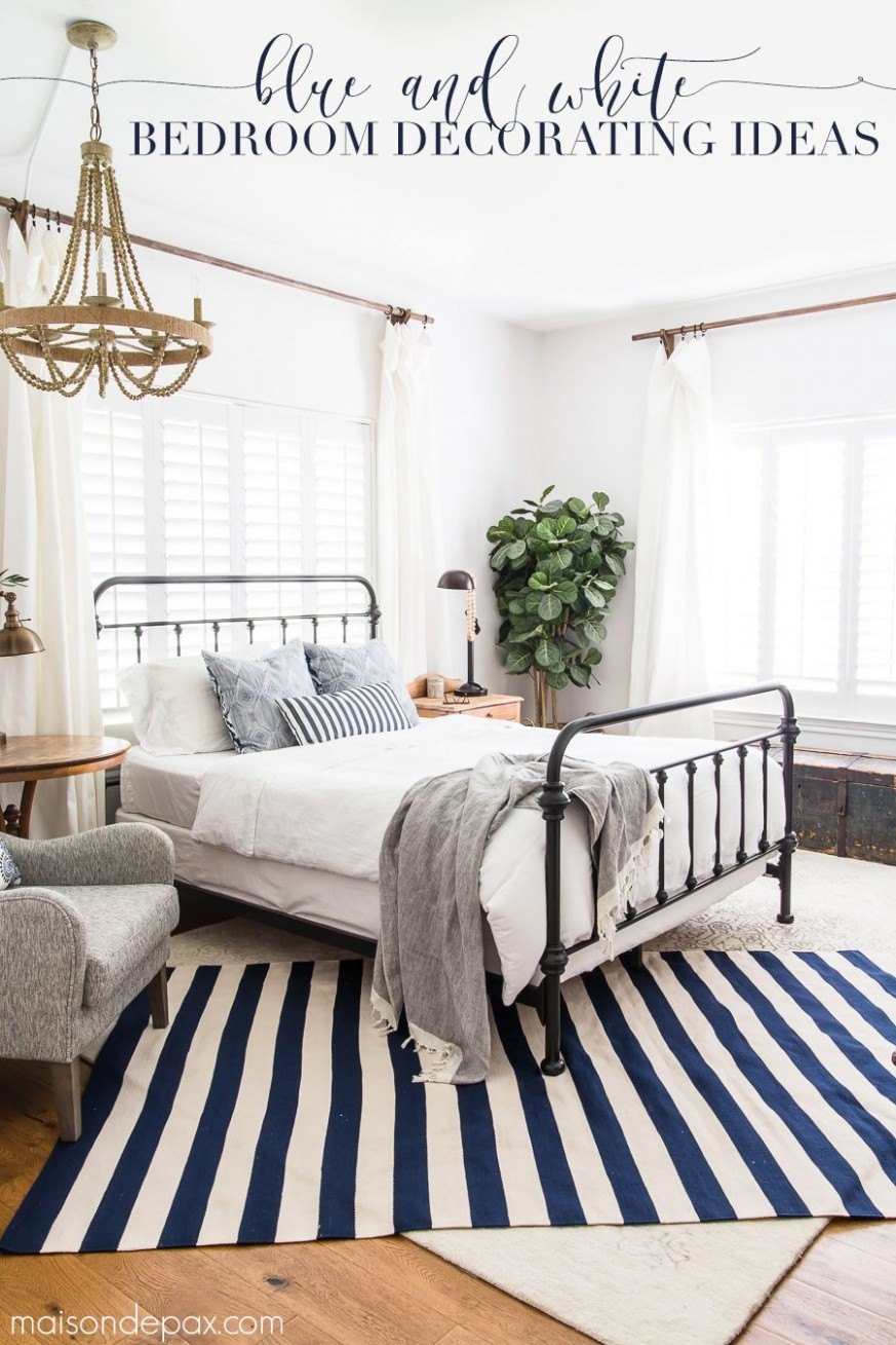 Blue and White Bedroom Ideas for Summer - Maison de Pax  White  - Bedroom Ideas Blue And White