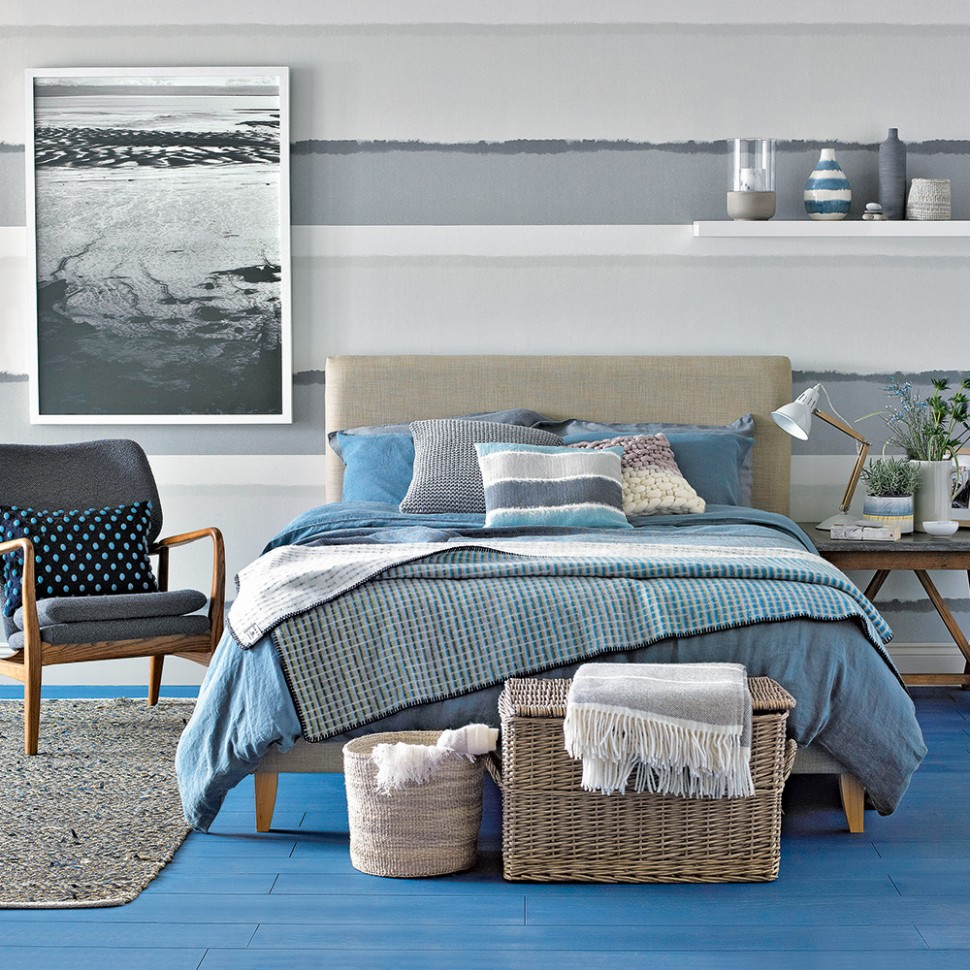 Blue bedroom ideas – see how shades from teal to navy can create a  - Bedroom Ideas Blue And Grey
