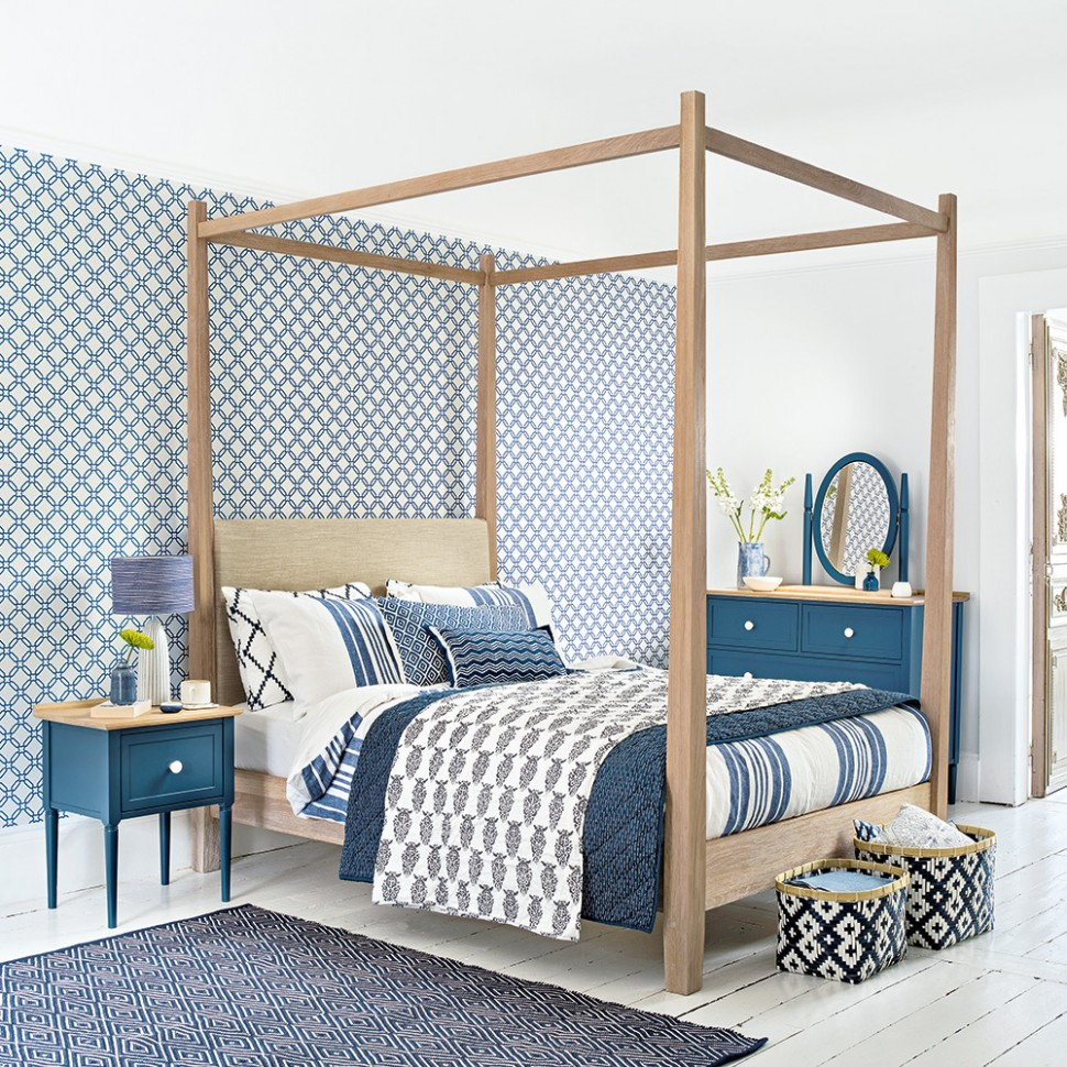 Blue bedroom ideas – see how shades from teal to navy can create a  - Bedroom Ideas Blue And White