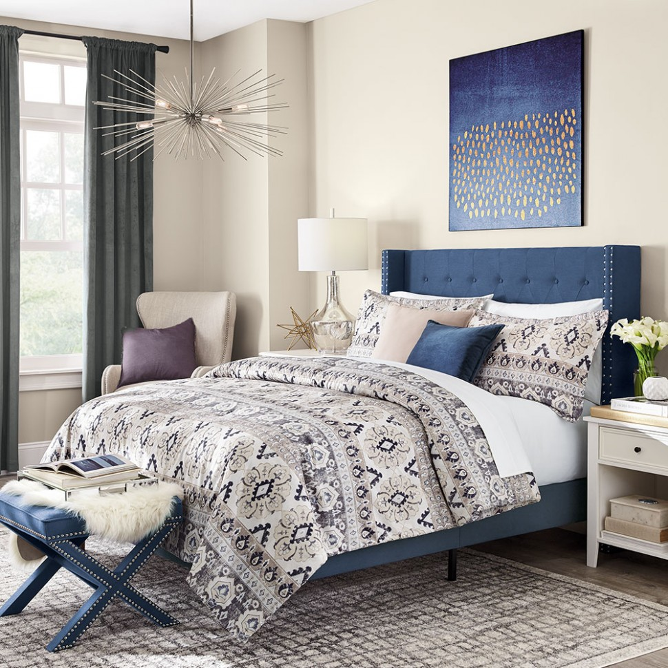 Blue Bedroom Ideas - The Home Depot - Bedroom Ideas Blue And Grey