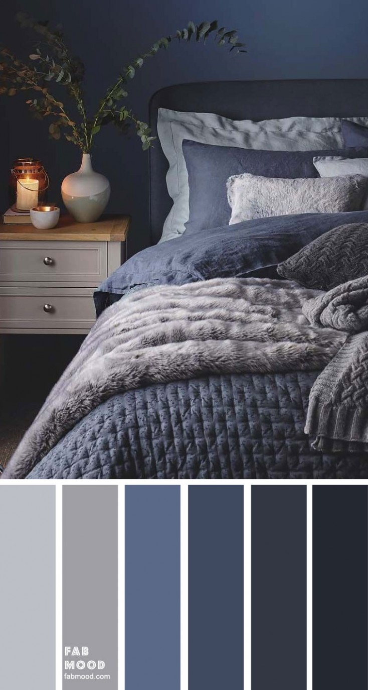 Blue, Charcoal and Grey Bedroom - Bedroom Ideas Blue And Grey