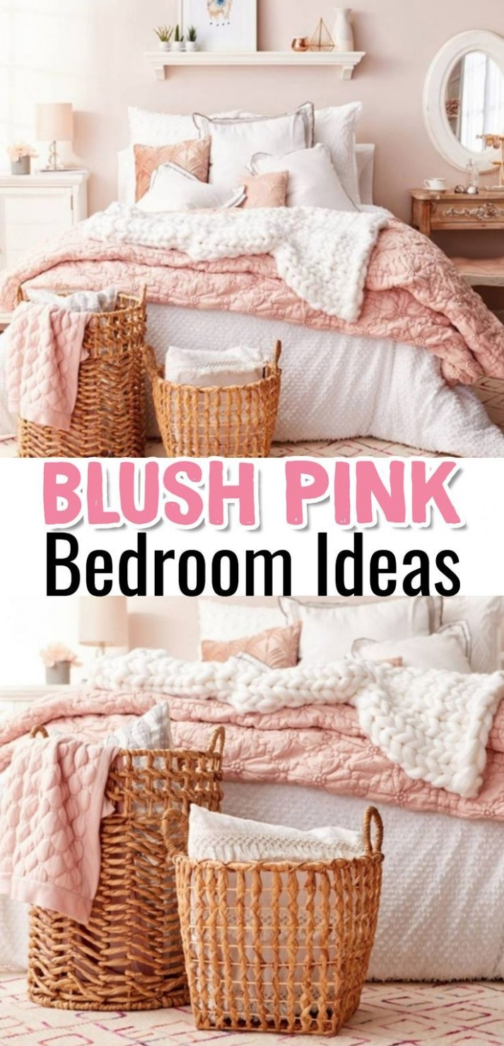 Blush Pink Bedroom Ideas - Dusty Rose Bedroom Decor and Bedding I  - Bedroom Ideas Rose Gold