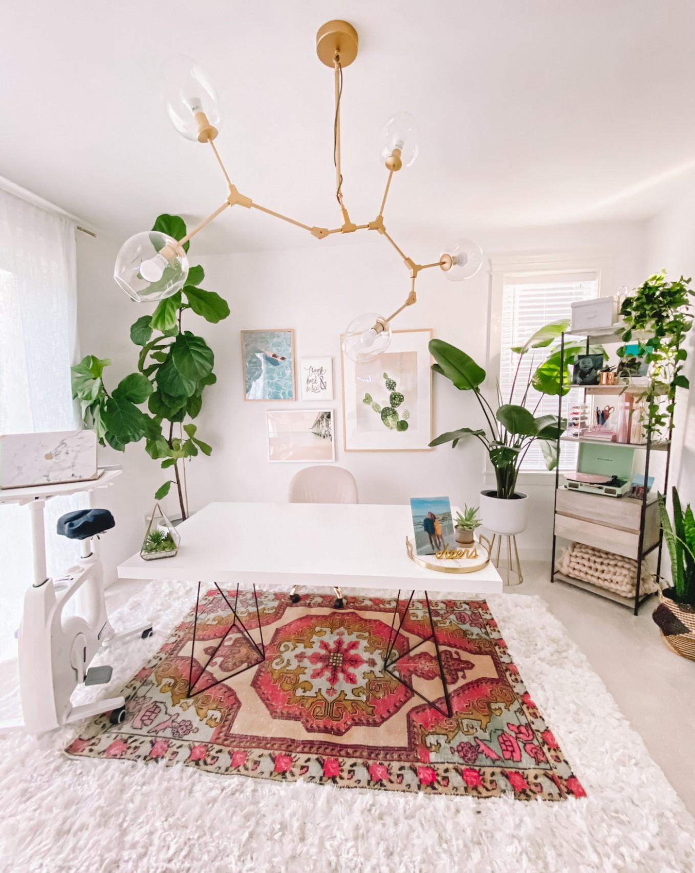Boho Office Decor  Home Office Ideas - Home Office Ideas Carpet