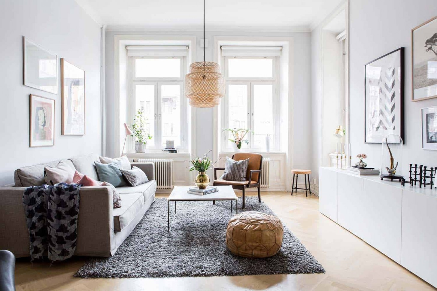 Bright and airy two-bedroom Scandinavian apartment interior - Scandinavian Apartment Decor Ideas