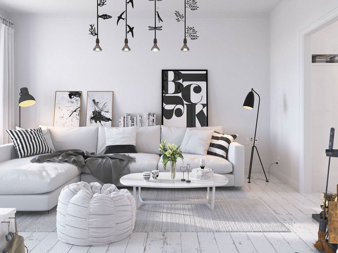 Bright Scandinavian Decor In 12 Small One-Bedroom Apartments - Scandinavian Apartment Decor Ideas