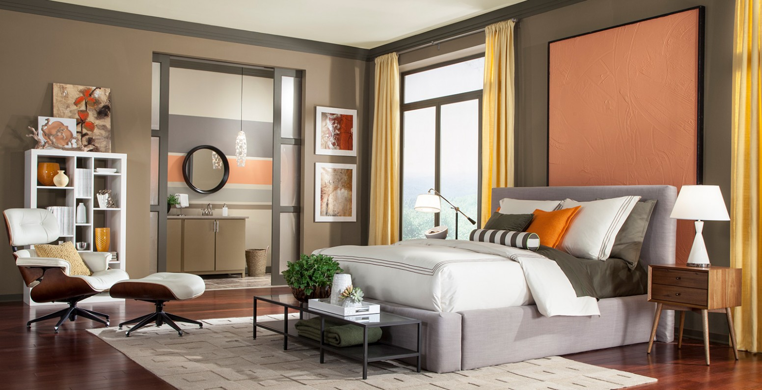 Brown Bedroom Walls Ideas and Inspirational Paint Colors  Behr - Bedroom Ideas Brown