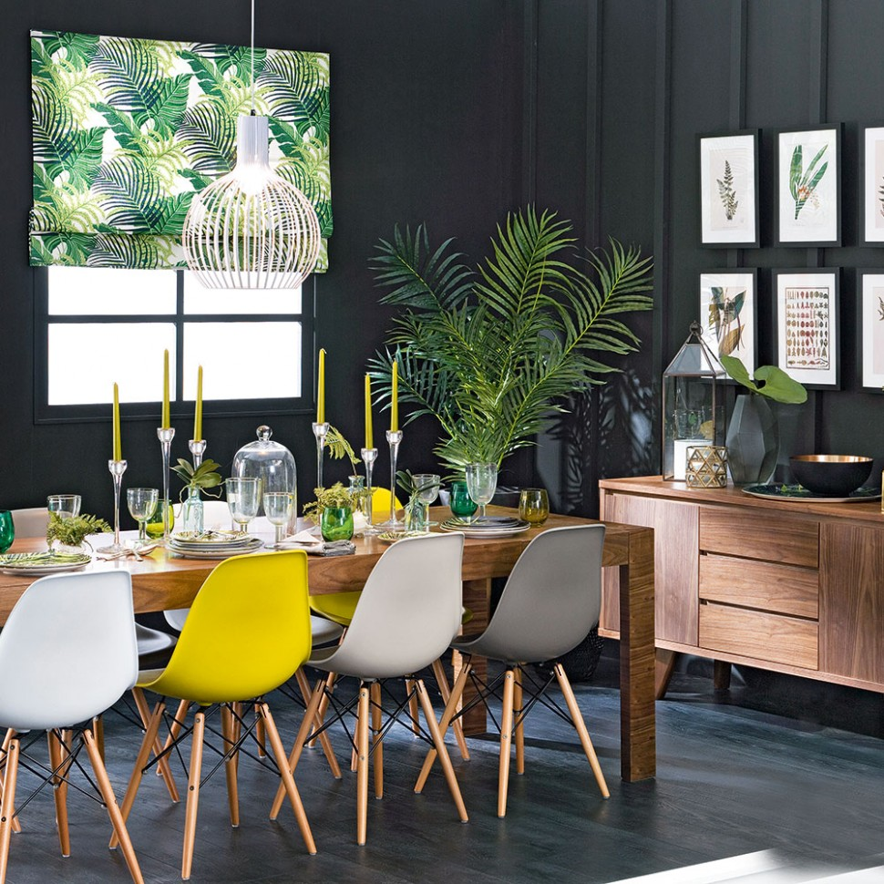 Budget dining room ideas – serve up a fresh look on a shoestring - Grey Yellow Dining Room Ideas