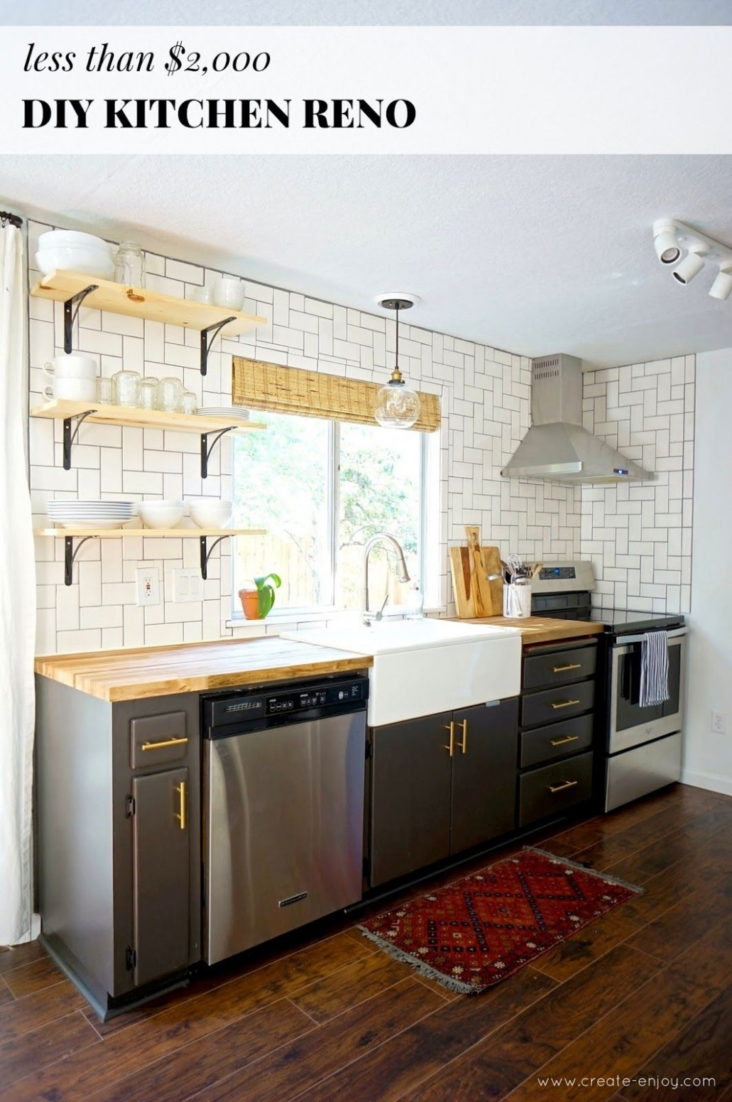 Budget kitchen reno before/after, cost, and DIYs  Galley kitchen  - Diy Galley Kitchen Cabinet Ideas