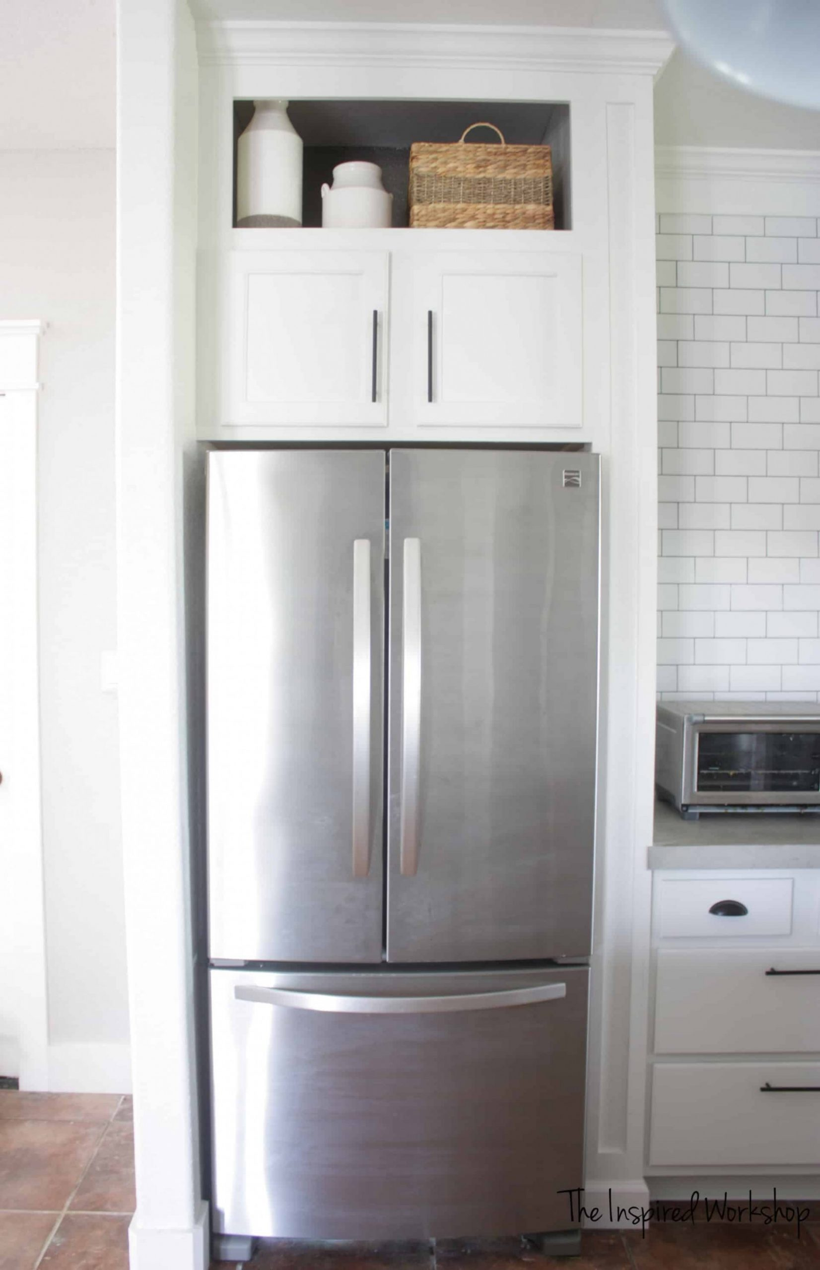 Building a Cabinet Above the Fridge - Kitchen Renovation – The  - Kitchen Fridge Cabinet
