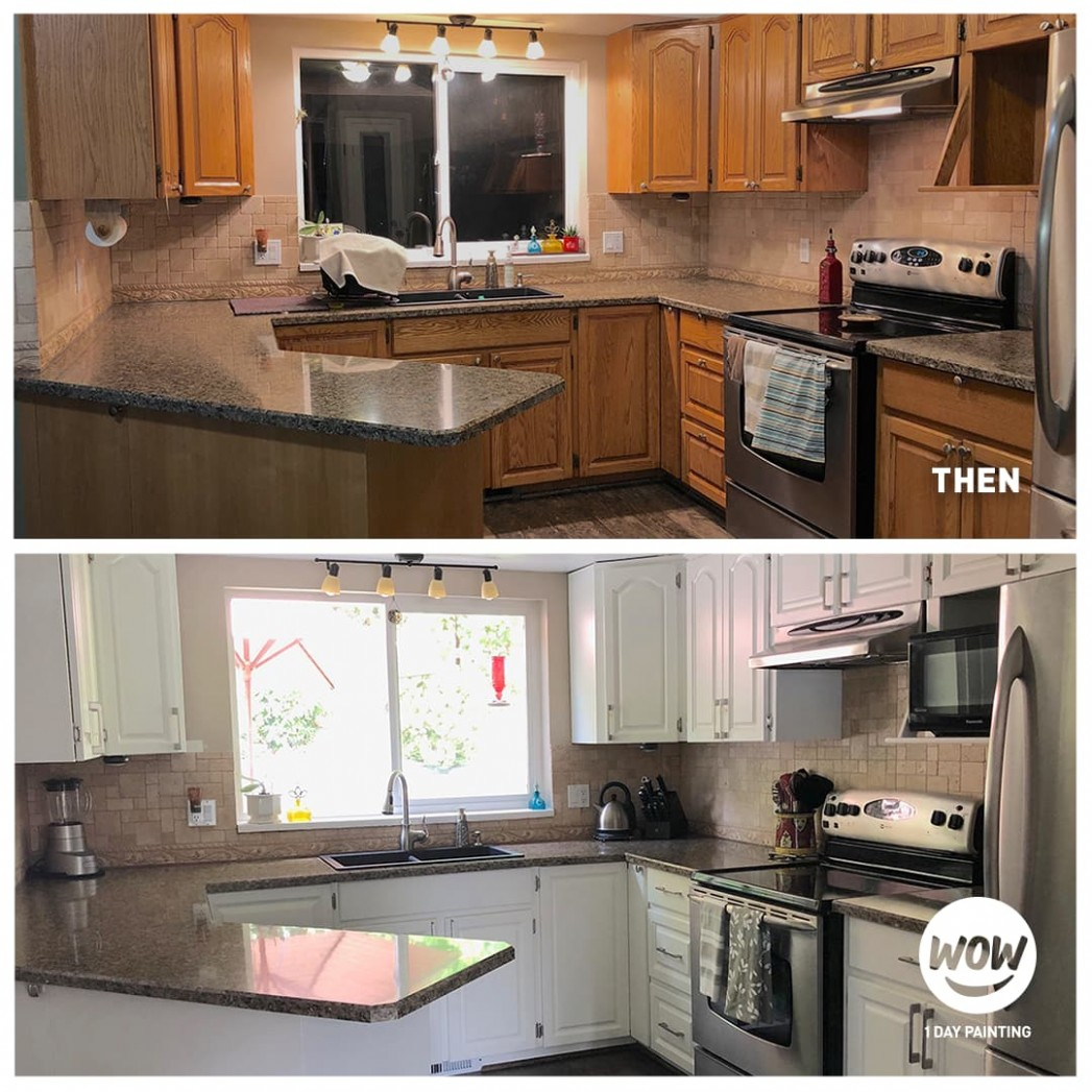 Cabinet Painting & Refinishing Services  WOW 11 DAY PAINTING - Kitchen Cabinets Refinishing Services
