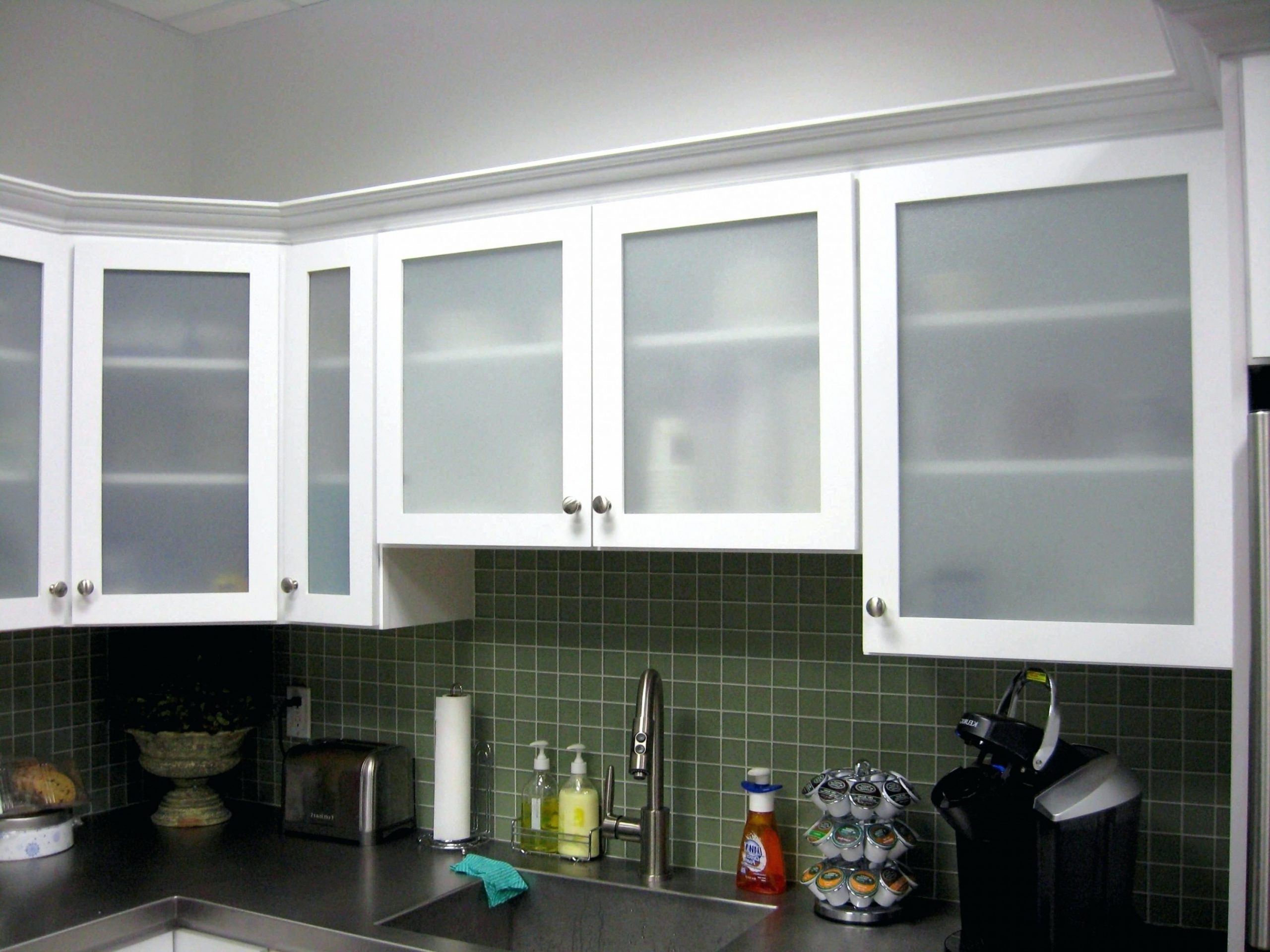 Captivating Frosted Glass Kitchen Cabinet Doors  Glass kitchen  - Frosted Cabinets Kitchen
