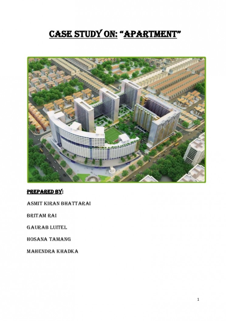 Case study on Apartment - Apartment Design Case Study