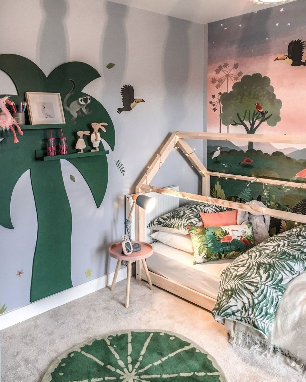 Charming Kids Bedroom Ideas With Jungle Theme To Try12  Jungle  - Childrens Bedroom Ideas Jungle