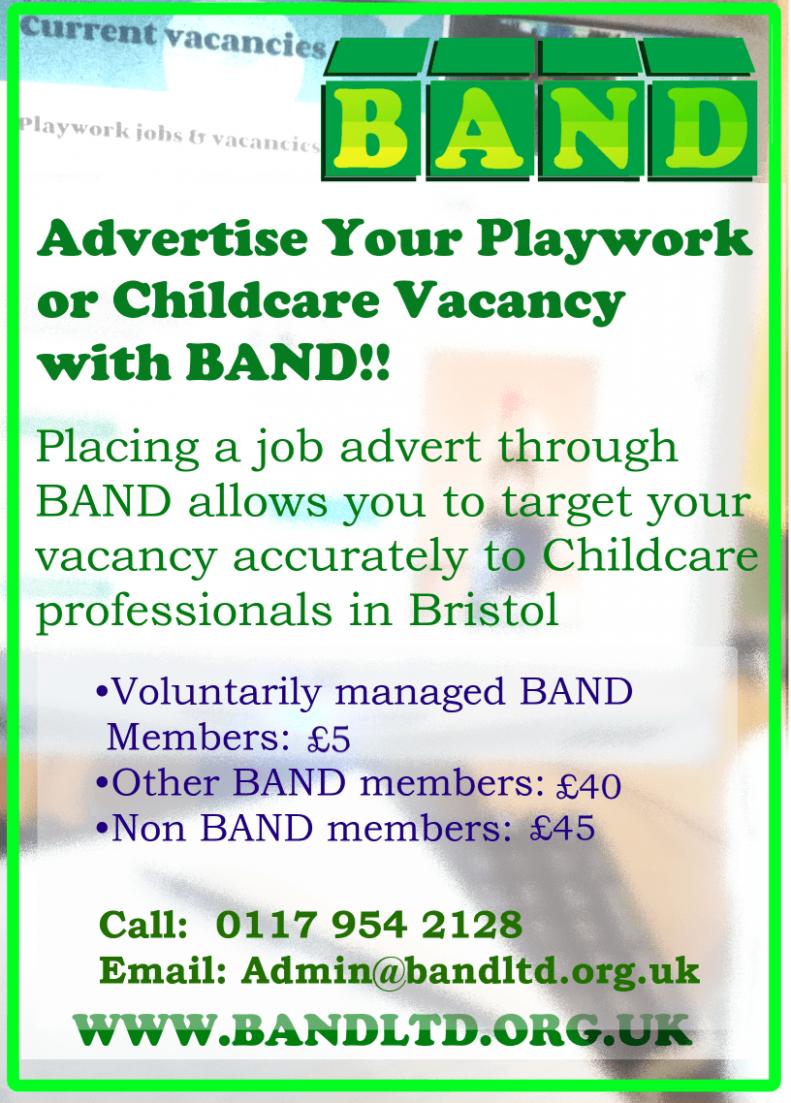 Childcare & Playwork jobs listing in Bristol,UK, BANDLtd.org