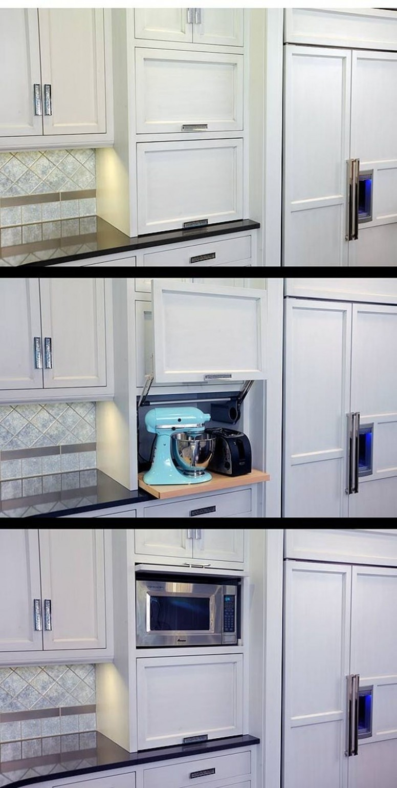 Clear Counter Clutter: 8 Inspiring Appliance Garages  Home  - Corner Kitchen Cabinet Appliance Garage
