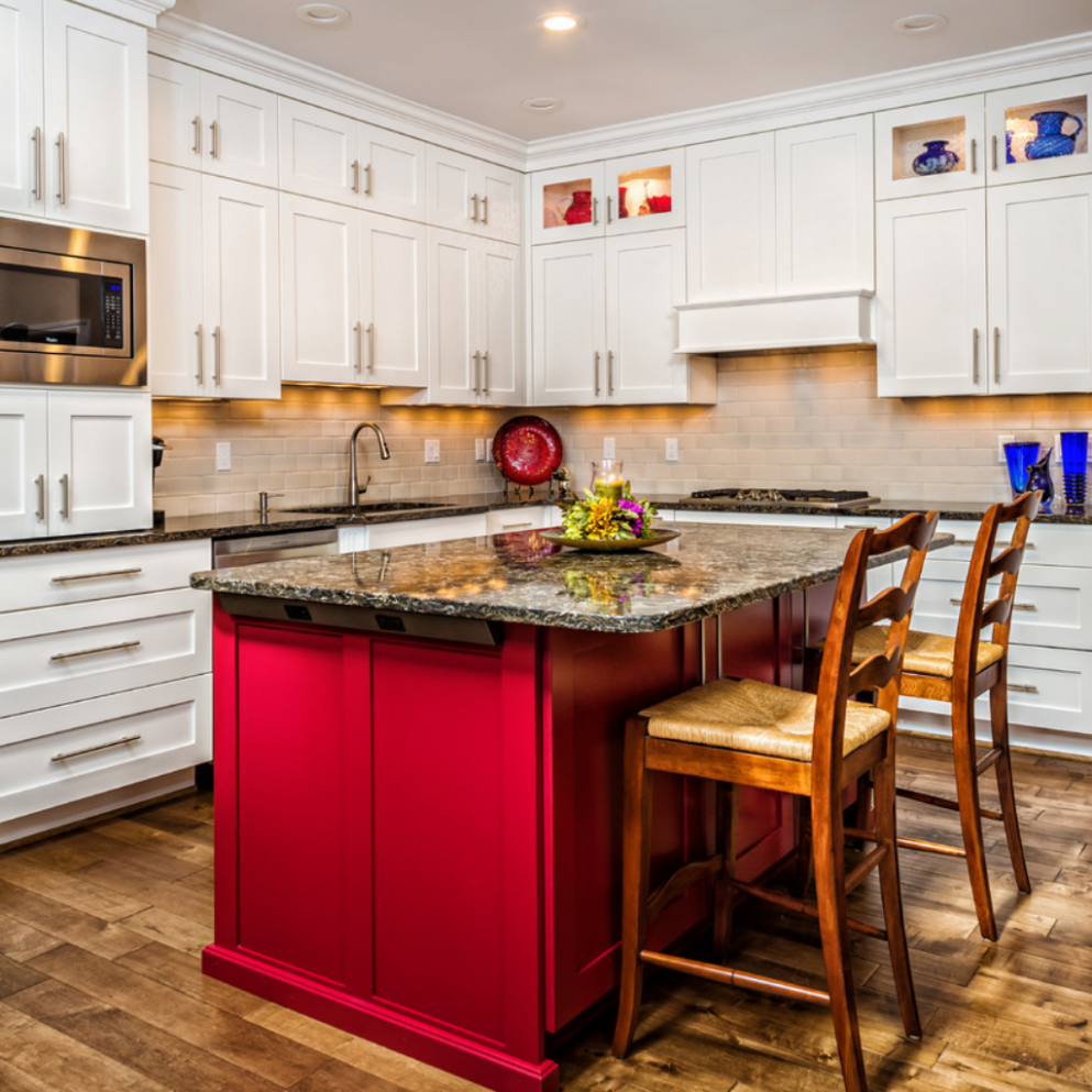 CNC Cabinets Timeless Selection: Choose Your Ideal Style  New  - Red Shaker Kitchen Cabinets