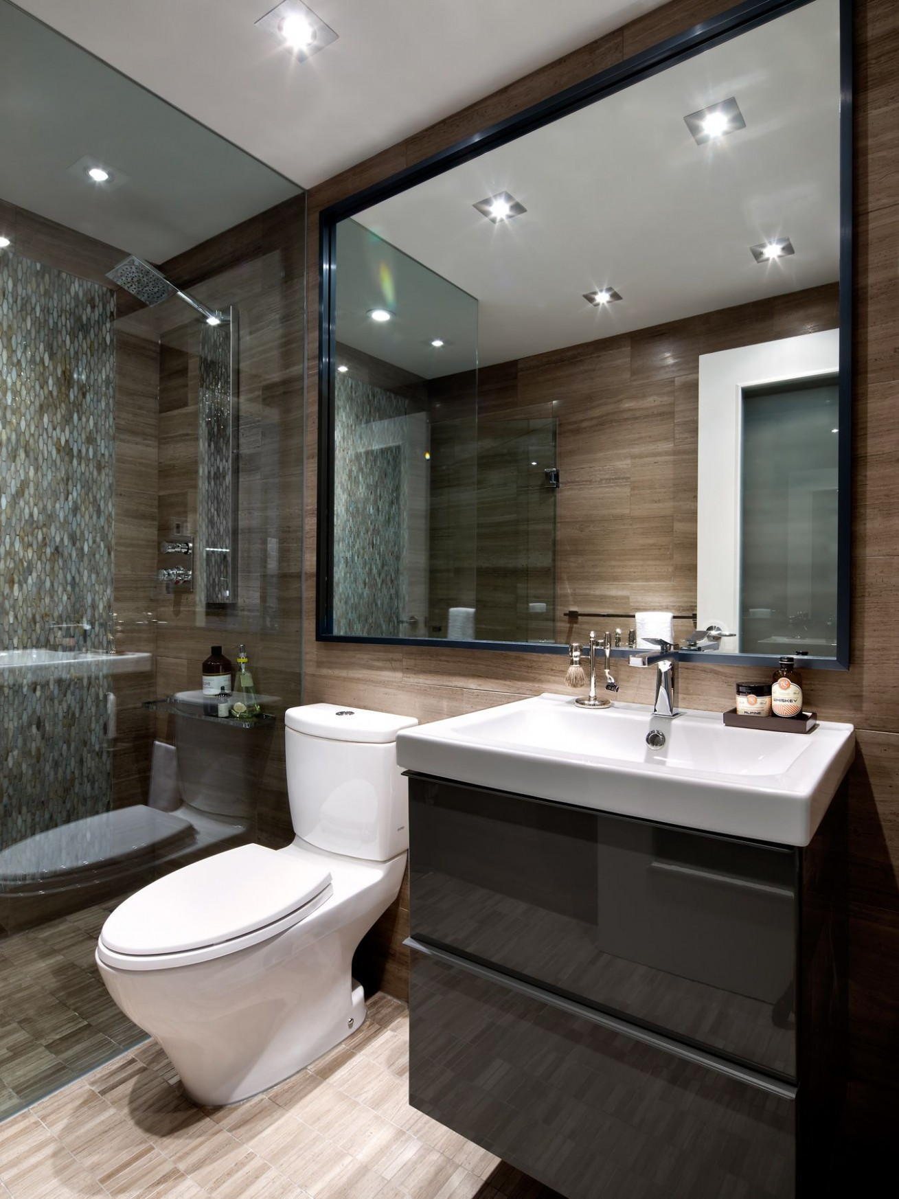 Condo Bathroom designed by Toronto Interior Design Group - www  - Apartment Washroom Design
