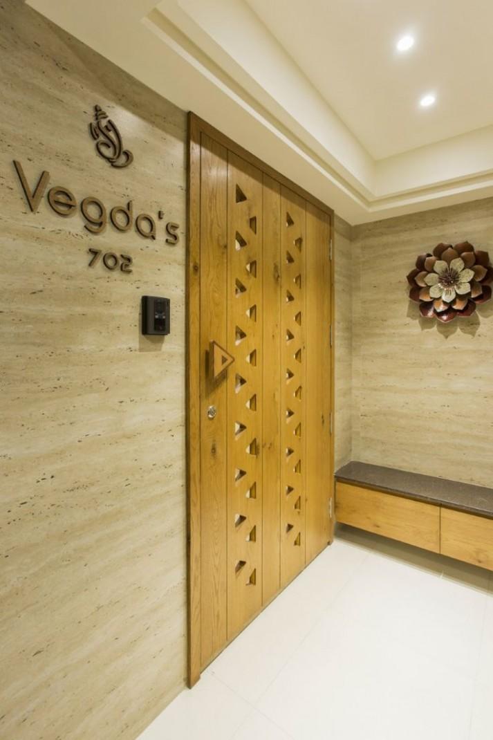 Contemporary Apartment With Minimal Furniture - Uși - #Apartment  - Apartment Main Door Design
