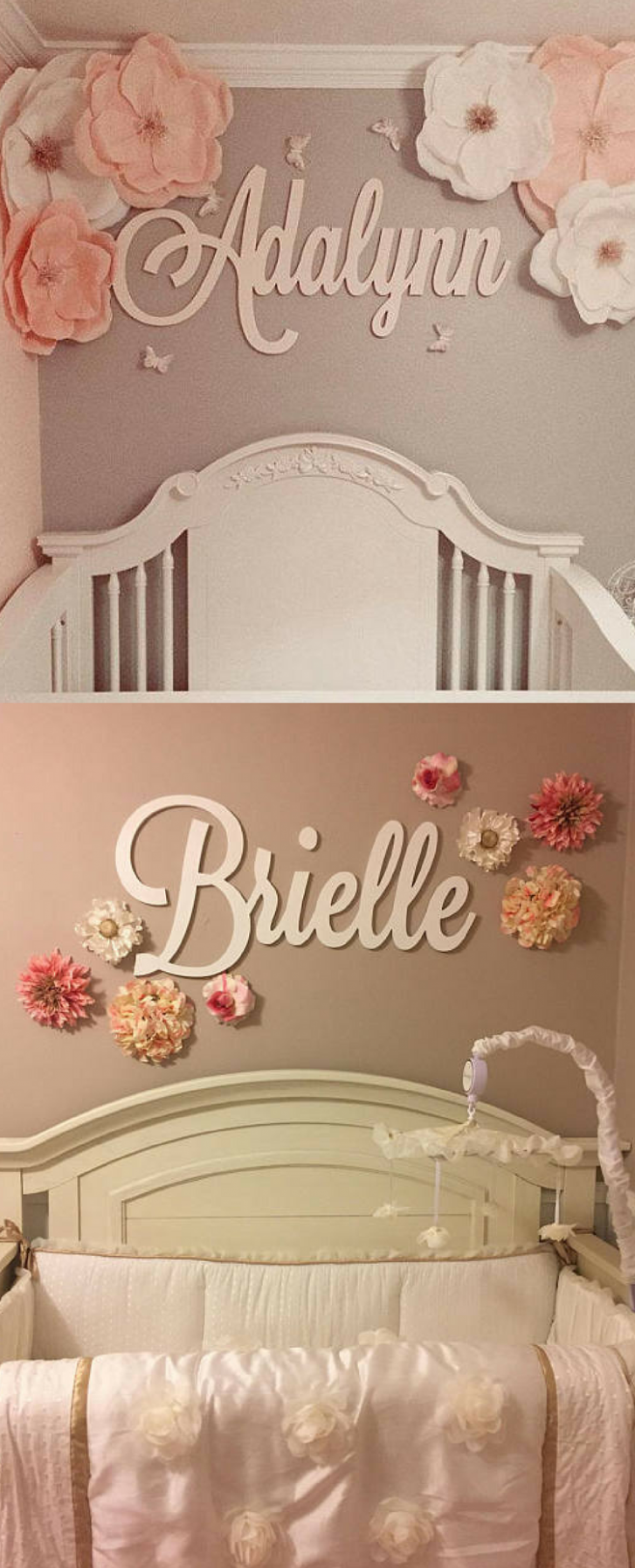 Cool cursive decal! This is a great idea for name décor for my  - Baby Room Name Decor