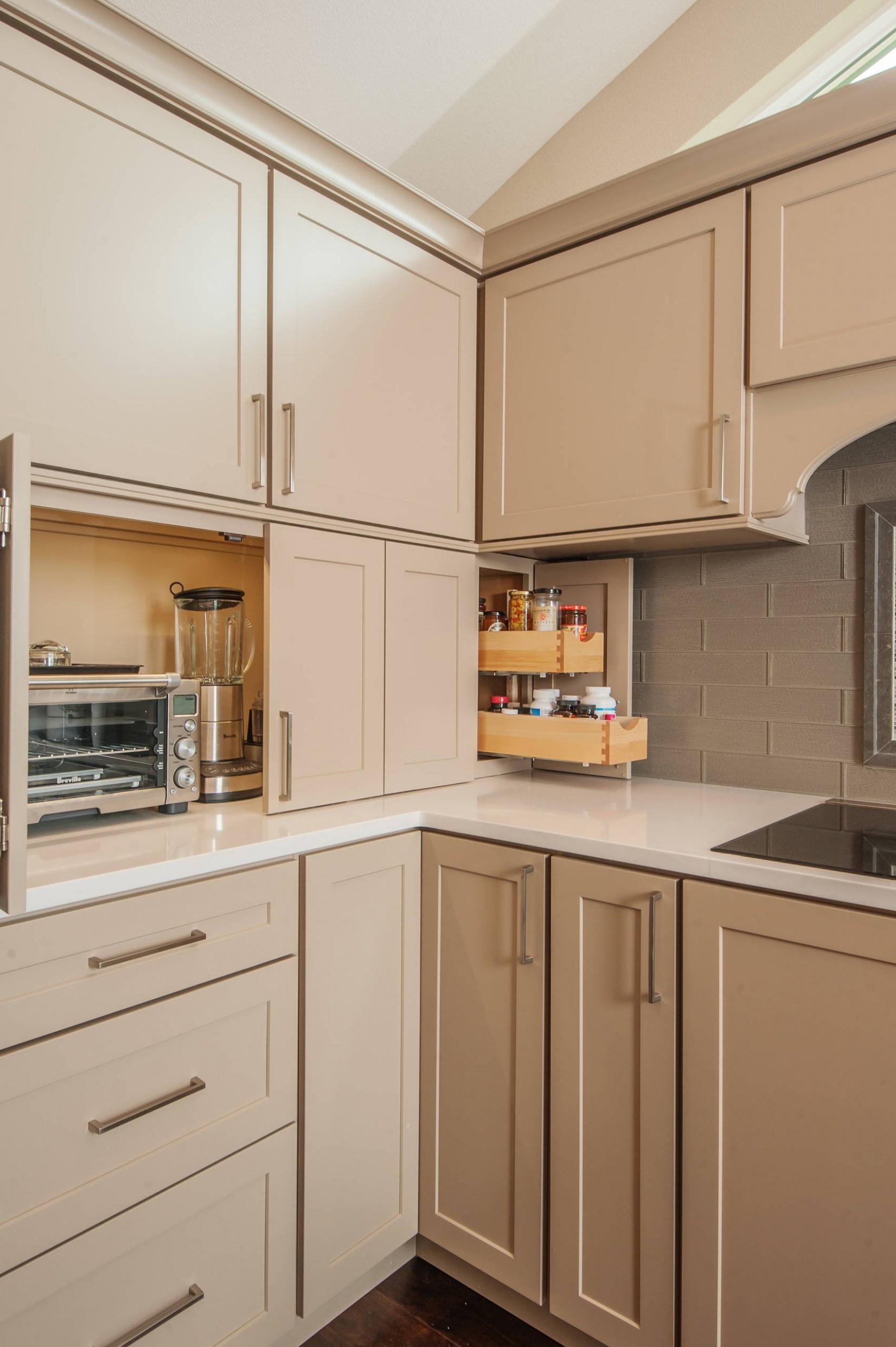 Corner Appliance Garage Ideas  Houzz - Corner Kitchen Cabinet Appliance Garage