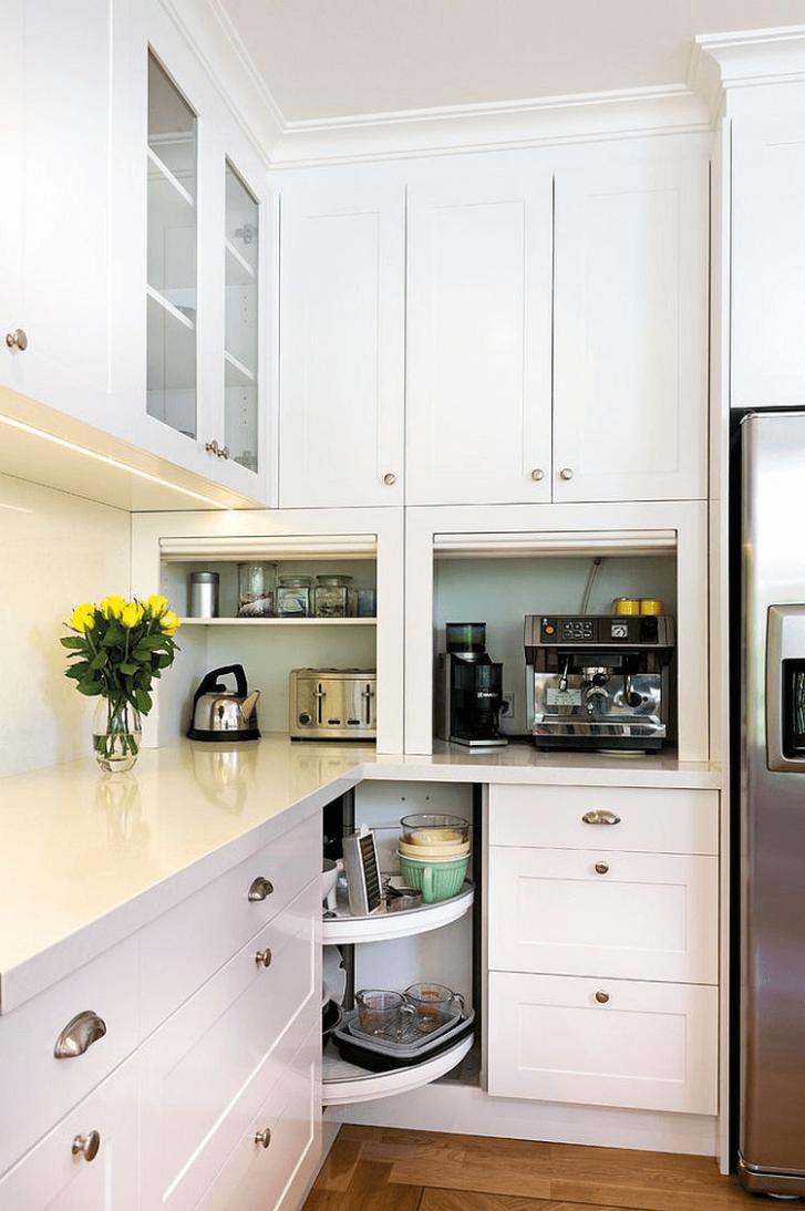 Corner kitchen cabinet storage ideas appliance garage - Corner  - Corner Kitchen Cabinet Appliance Garage