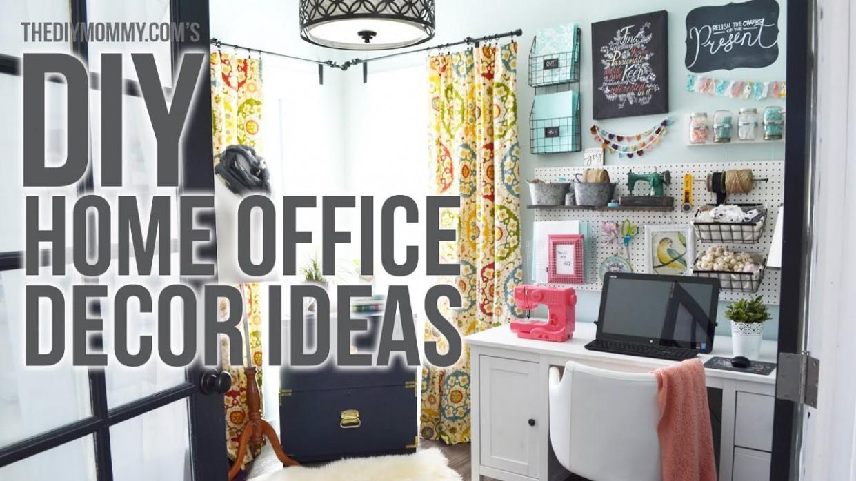 Craft Room Home Office Tour // 12 Easy DIY Office Decor Ideas - Home Office Ideas Diy