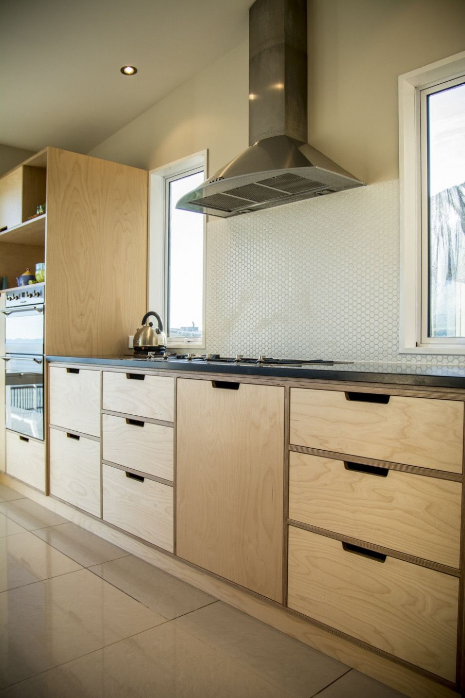 Crisp, simple and modern plywood kitchen