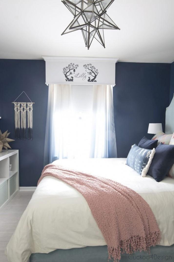 Dark Blue Girls Room  Cuckoo11Design  Girls blue bedroom, Blue  - Bedroom Ideas Dark Blue