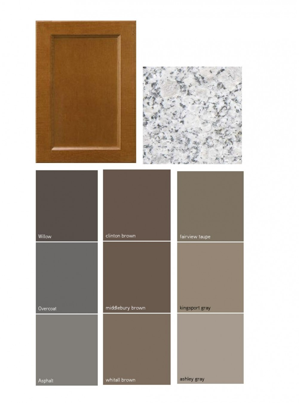 Dark taupe colored china cabinet  Kitchen Paint Colors with White  - Maple Kitchen Cabinets And Taupe Walls