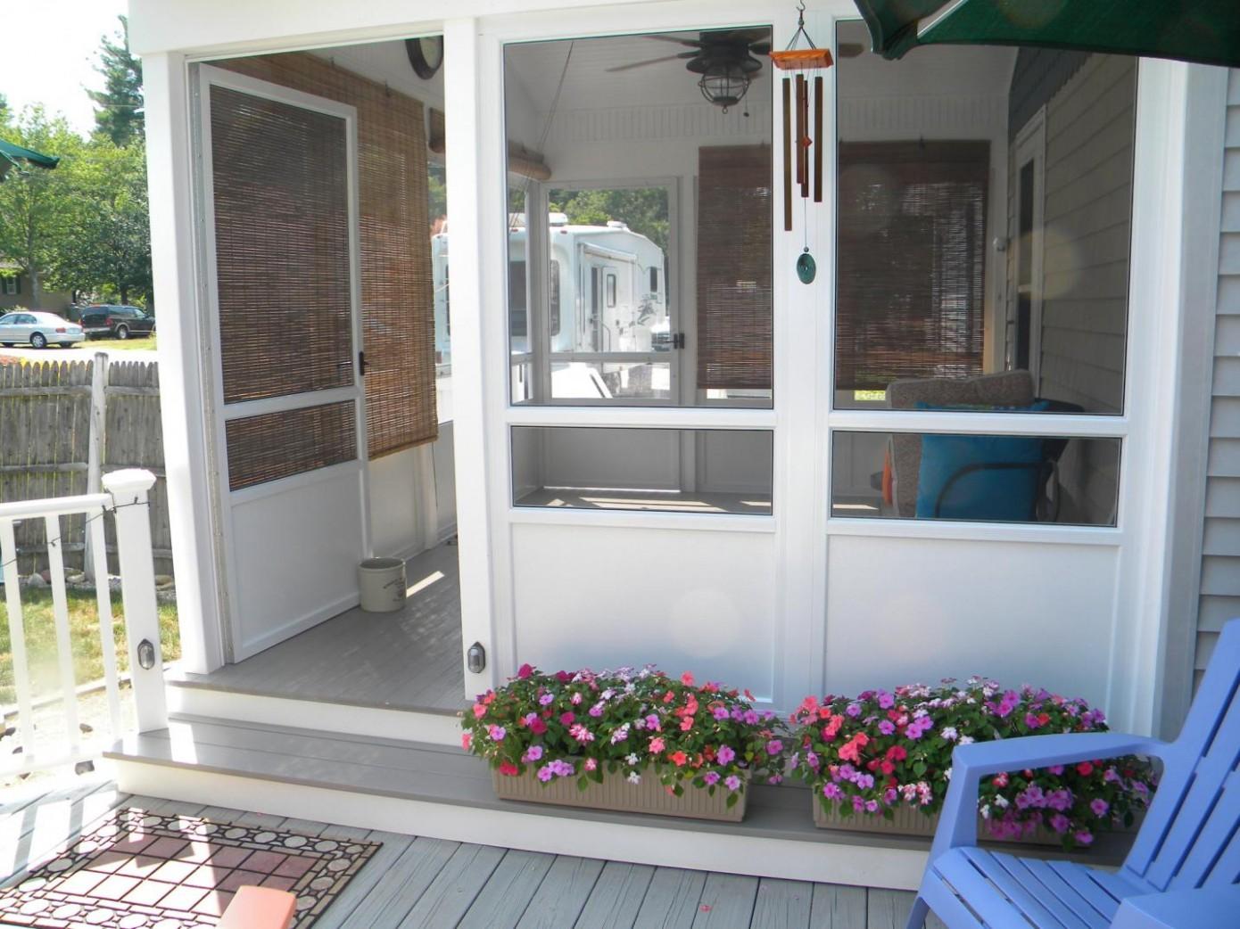 Decor Screened In Porch Ideas With Frame Design As Patio Enclosure  - Apartment Balcony Enclosure Ideas