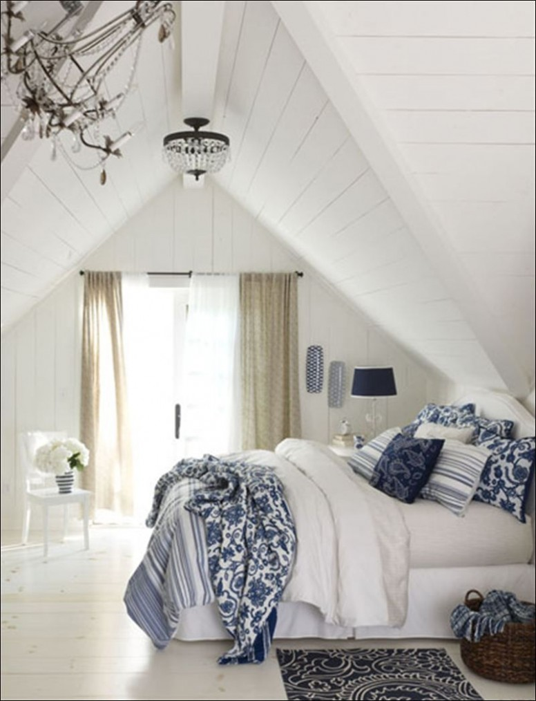 Decorating Your Home With Classic Blue And White  White bedroom  - Bedroom Ideas Blue And White