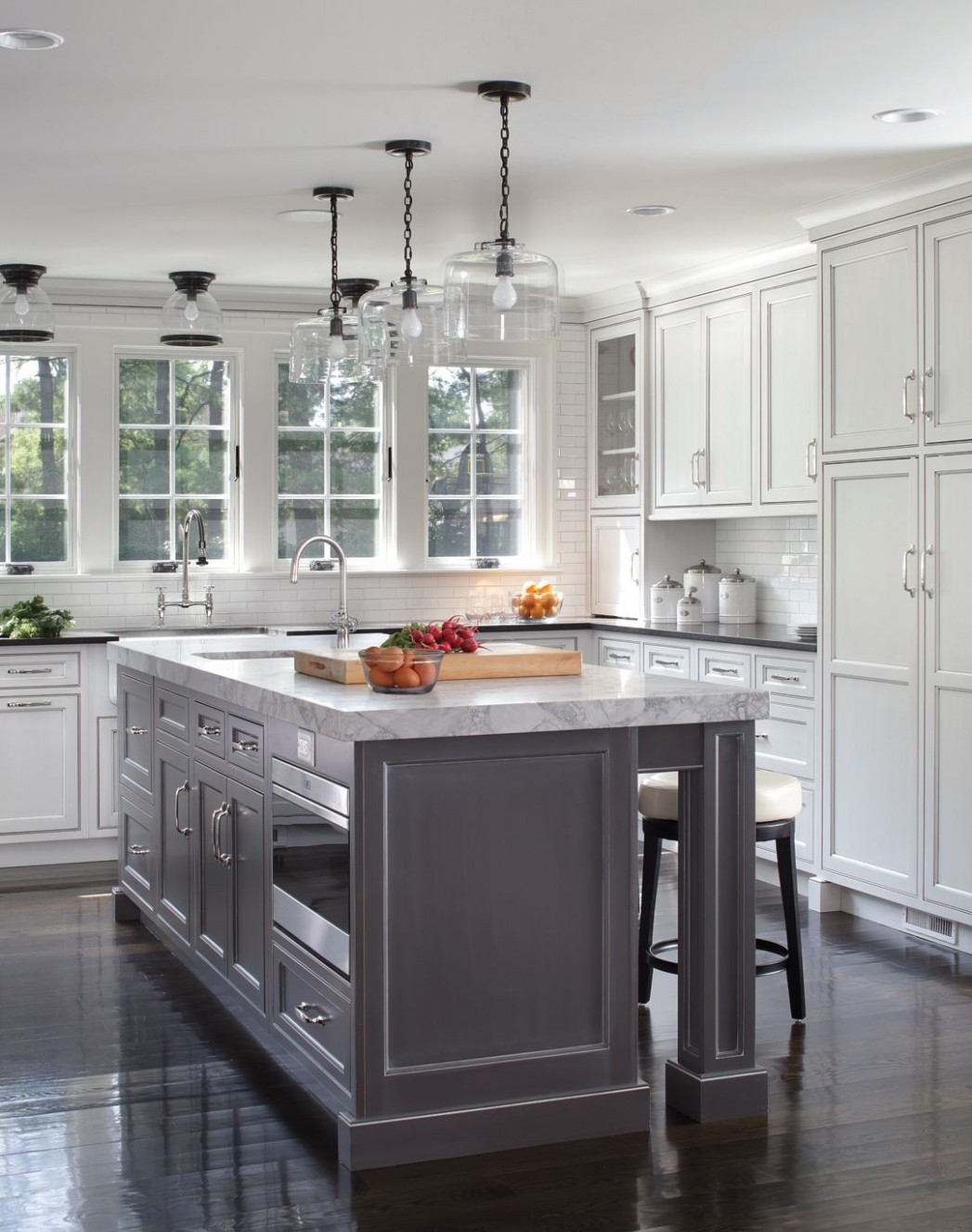 Decorative end panels and custom turned legs set this island apart  - Kitchen Cabinet Decorative End Panels