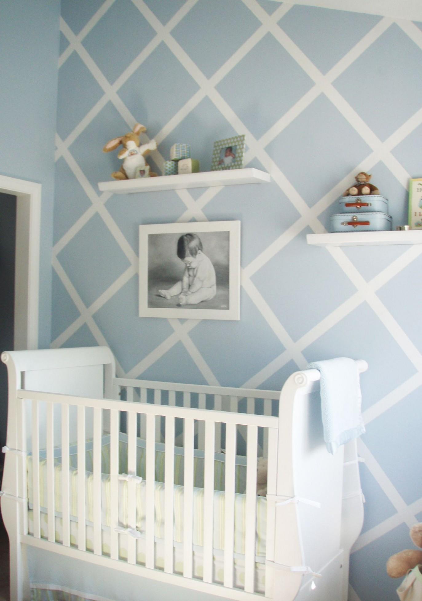 Design Reveal: Modern Baby Blue - Project Nursery  Nursery design  - Baby Room Blue
