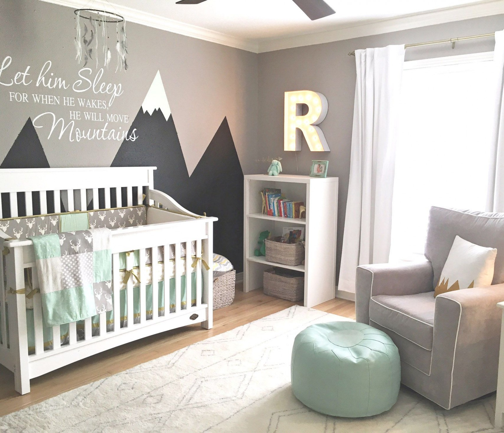 Design Reveal: Mountain-Inspired Nursery - Project Nursery  Baby  - Baby Room Mountain Theme