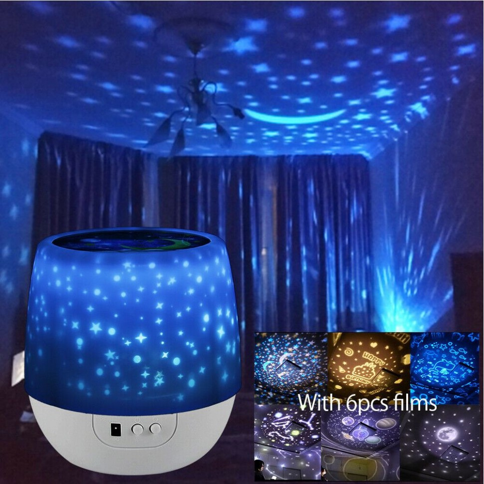 Details about Kids Star Night Lights Led Rotating Starry Projector Nursery  Lamps Xmas GIFT - Baby Room Night Light