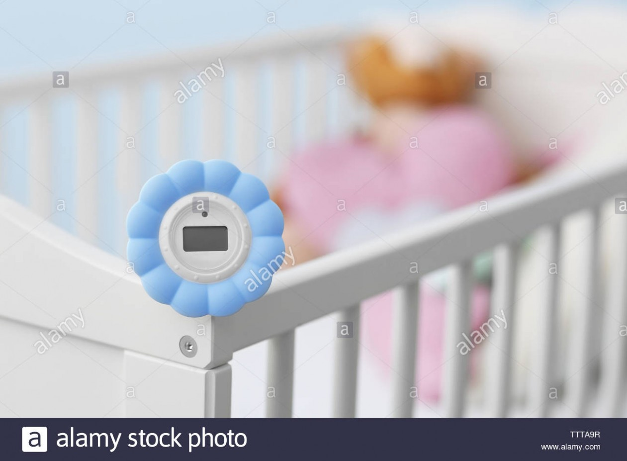 Digital temperature and humidity control in baby room Stock Photo  - Baby Room Humidity